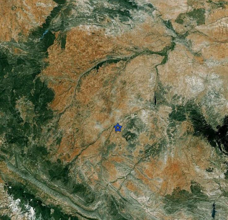 estructura de impacto de Azuara - Moyuela localización del afloramiento