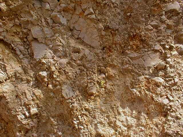 brechificación a tamaño arena, detalle, cráter de impacto de Ries, cantera de Iggenhausen
