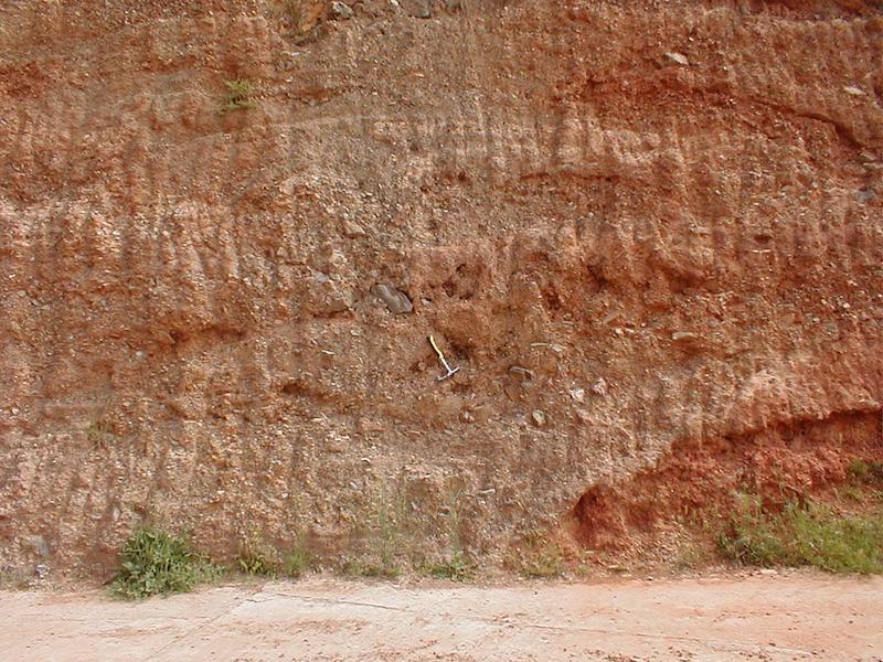 Aspecto del Terciario sito bajo el cabalgamiento de Daroca, Azuara impact