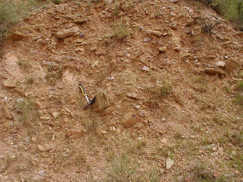 Textura diamíctica del Terciario, cabalgamiento de Daroca, impacto de Azuara
