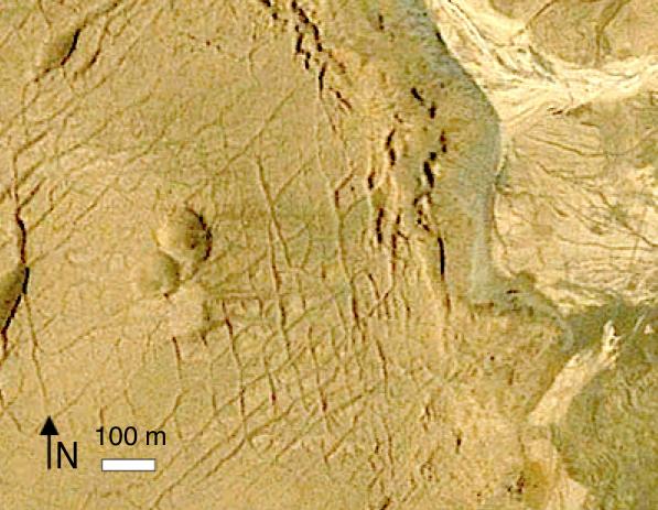 cráteres del grupo NNE 2 este Quillagua Google Earth
