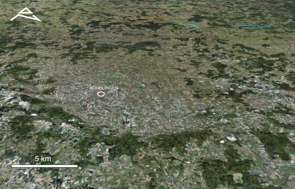 imagen Google Earth estructura de impacto de Ries Alemania